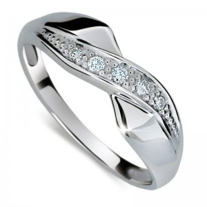 Dámský prsten s diamanty DF1915B