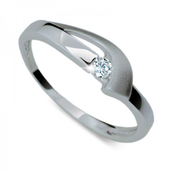 Dámský prsten s diamantem DF1779B