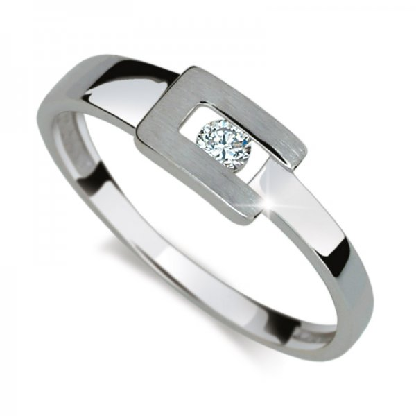 Dámský prsten s diamantem DF2039