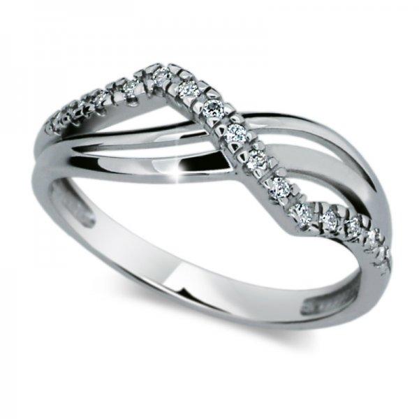 Dámský prsten s diamanty DF2082
