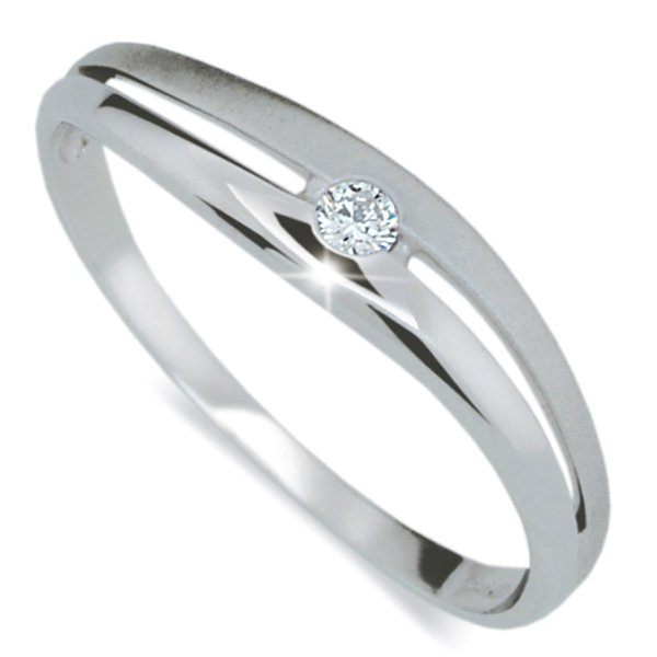 Dámský prsten s diamantem DF1661