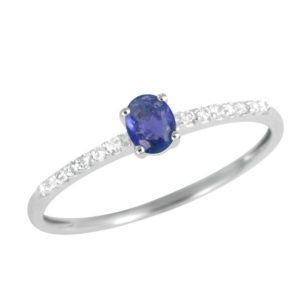 Prsten s modrým safírem GKW46631