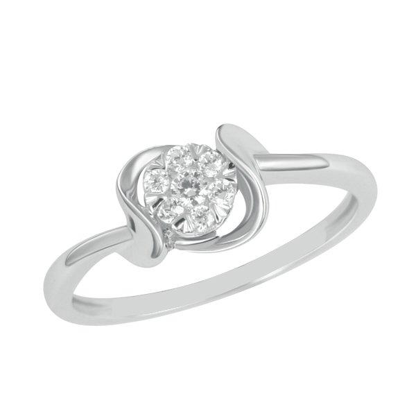 Prsten z bílého zlata s diamanty GKW49531