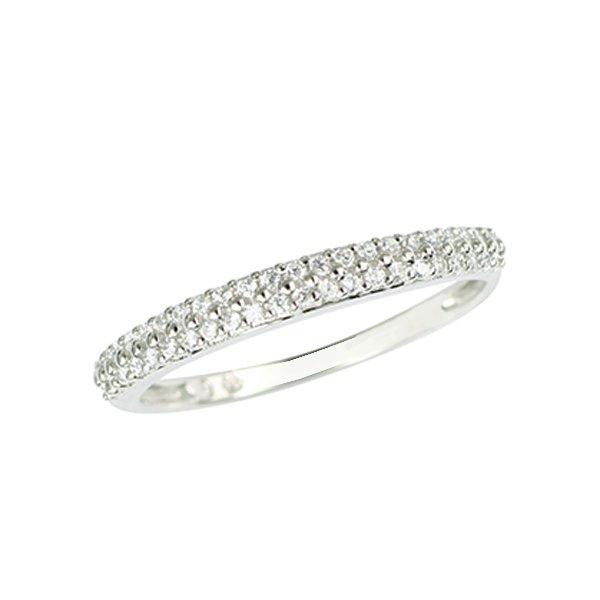 Prsten s brilianty z bílého zlata GKW52024