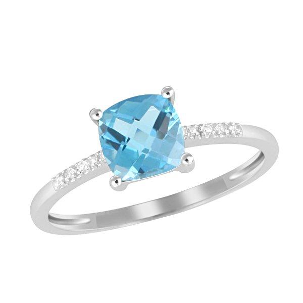 Dámský prsten s topazem a diamanty GKW48525