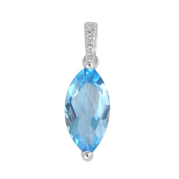 Přívěsek s topazem a diamanty GKW48532