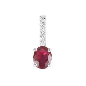 Přívěsek s rubínem a diamanty GKW52423