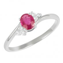 Dámský prsten s diamanty a rubínem GKW26150