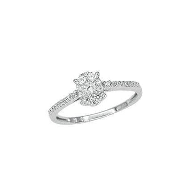 Prsten z bílého zlata s diamanty GKW55421