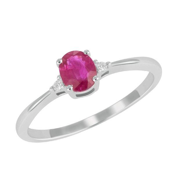 Zlatý prsten s rubínem a brilianty GKW26160