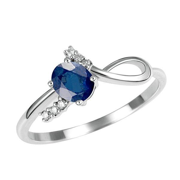 Prsten s diamanty a safírem GKW35627