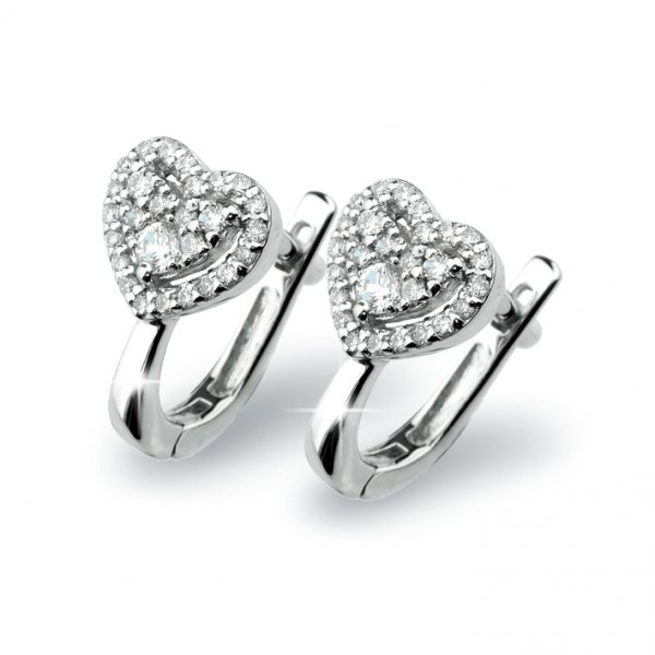Romantické diamantové náušnice GKW54692