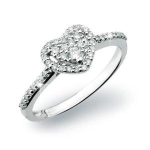 Romantický prsten s diamanty GKW54681