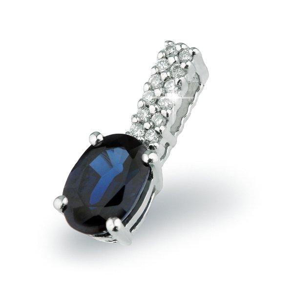 Přívěsek se safírem a diamanty GKW52593