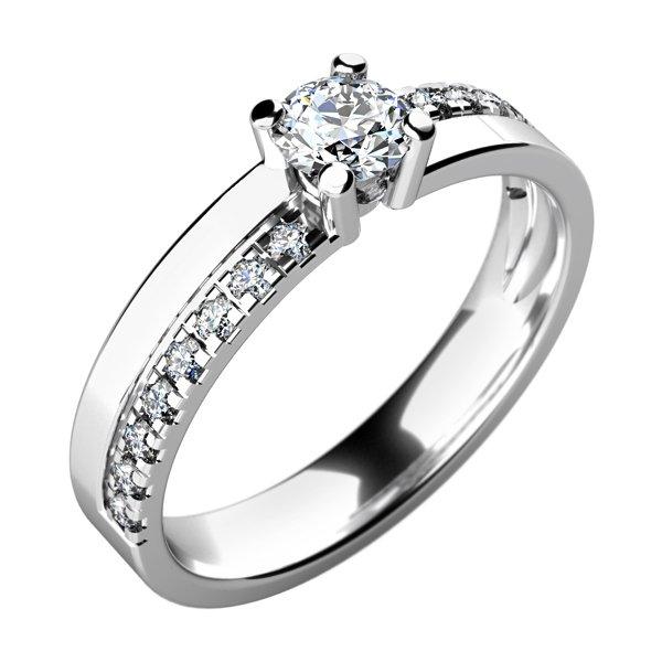 Dámský prsten s diamanty 10760D
