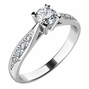 Dámský prsten s diamanty 10745D