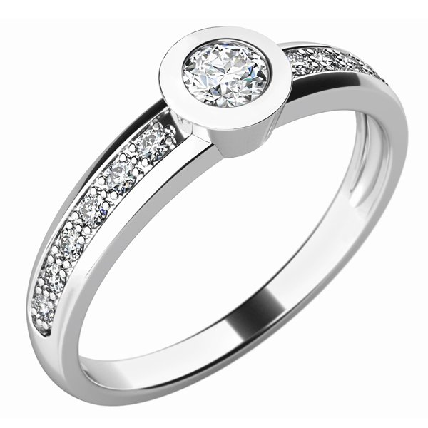Dámský prsten s diamanty 10746D