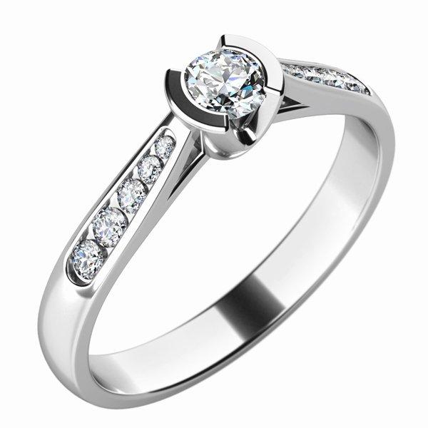 Dámský prsten s diamanty 10755D