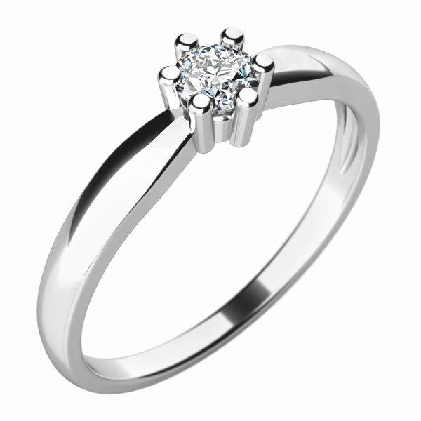 Dámský prsten s diamantem 10768D