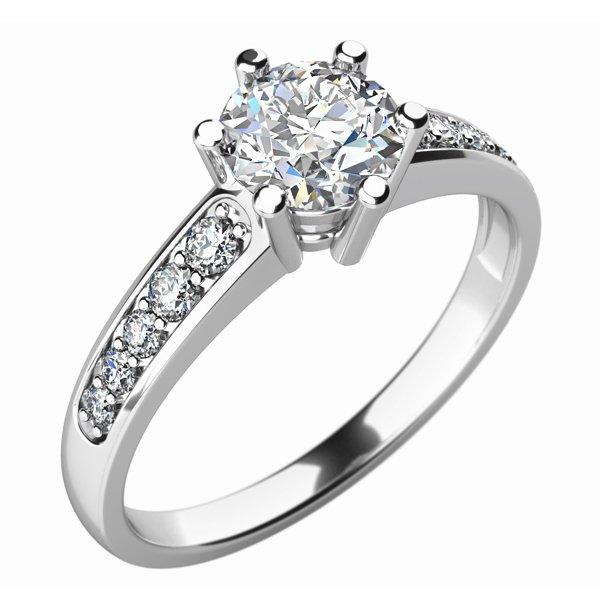 Dámský prsten s diamanty 10747D