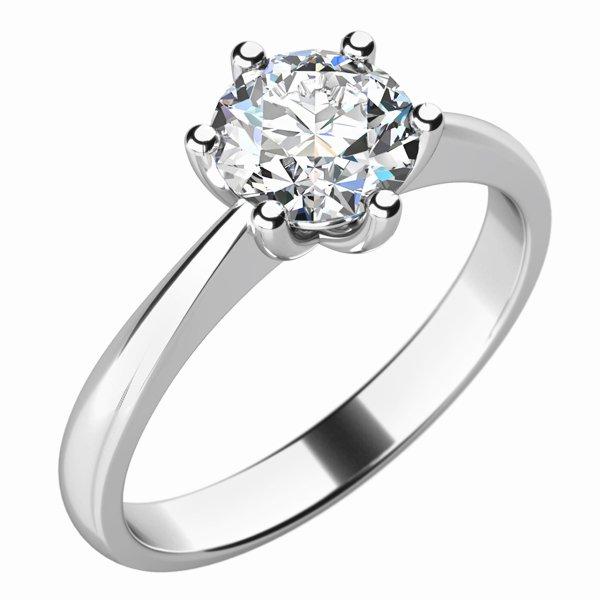 Dámský prsten s diamantem 10736D