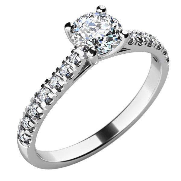 Dámský prsten s diamanty 10759D