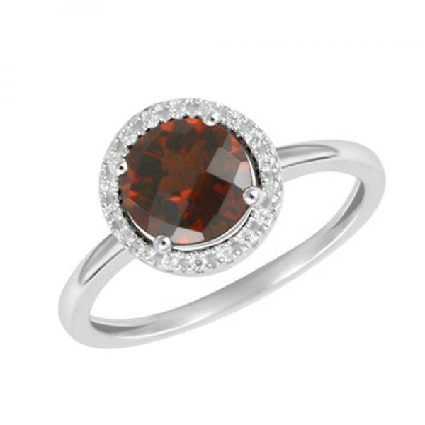 Prsten s diamanty a s granátem GKW47231GR