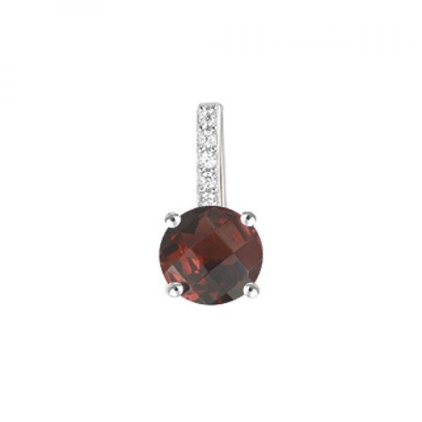Přívěsek s granátem a diamanty GKW54223GR