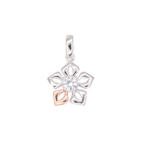 Zlatý přívěsek s diamantem - květina GKW57513DIA