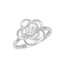 Prsten z bílého zlata s diamanty GKW60811