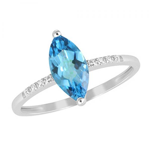 Prsten s topazem a diamanty GKW48529TPZ