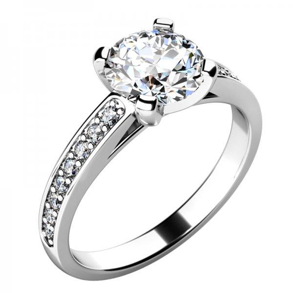 Dámský prsten s diamanty 10777D