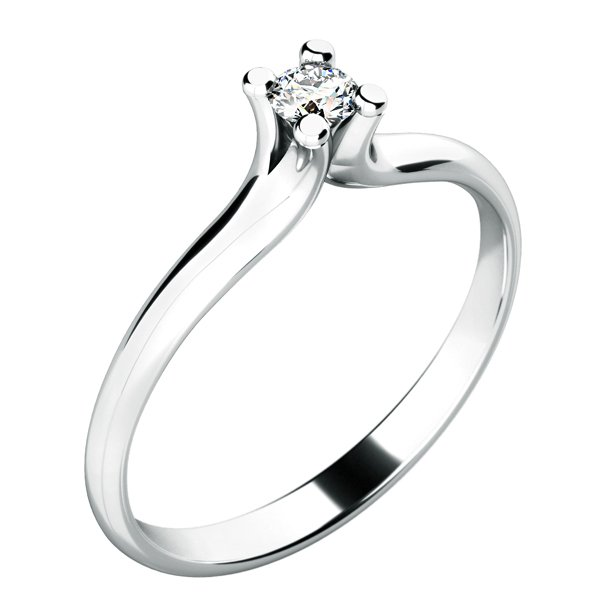 Dámský prsten s diamantem 10782D