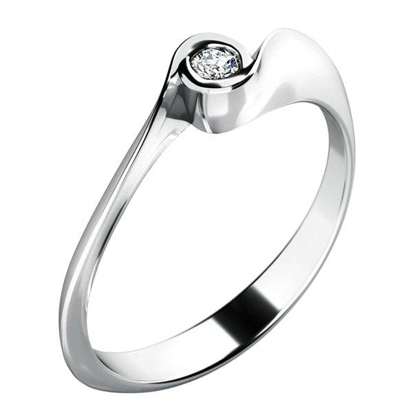 Dámský prsten s diamantem 10783D