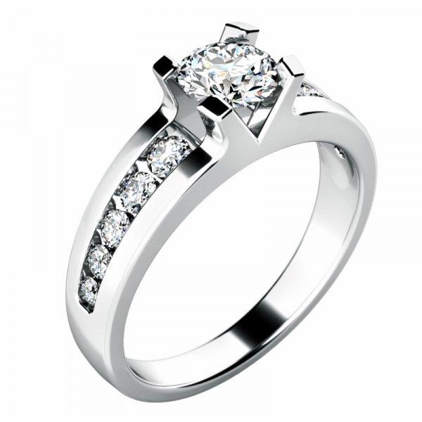 Dámský prsten s diamanty 10776D