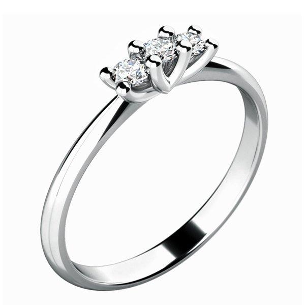 Dámský prsten s diamanty 10781D
