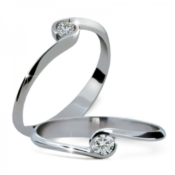 Dámský prsten s diamantem DF1914