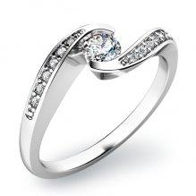 Dámský prsten s diamanty 10844D