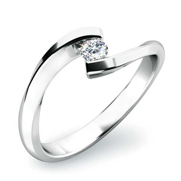 Dámský prsten s diamantem 10818D