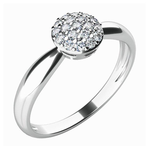 Dámský prsten s diamanty 10815D