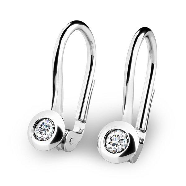 Náušnice s diamanty 10824-B