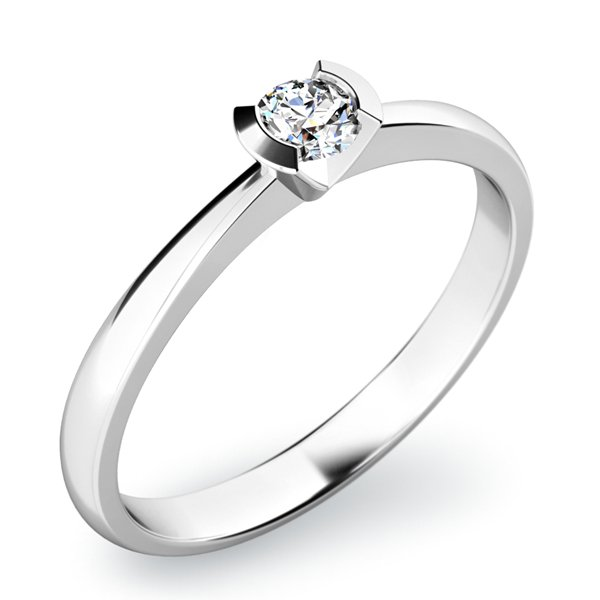 Dámský prsten s diamantem 10840D