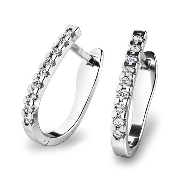 Diamantové náušnice kruhy 10862-B