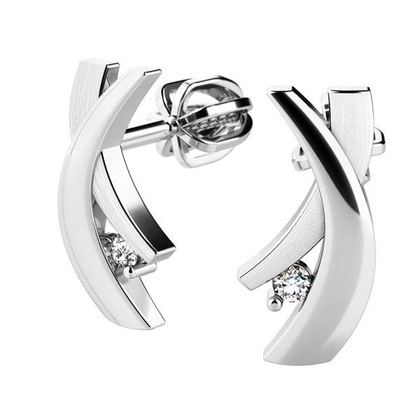 Náušnice s diamanty 10854-B