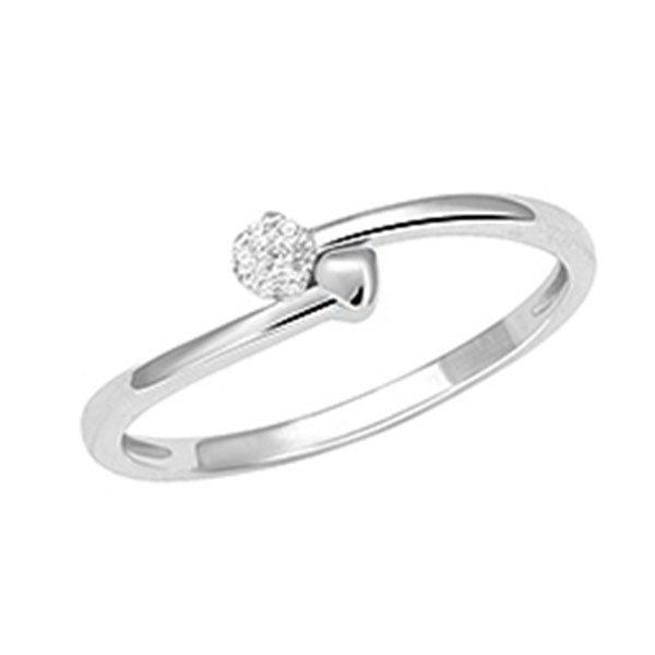 Prsten z bílého zlata s diamanty GKW57121