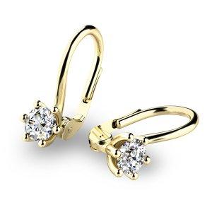 Visací náušnice s diamanty 10885-ZL