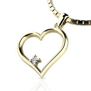 Zlatý přívěsek s diamantem 10875-ZL