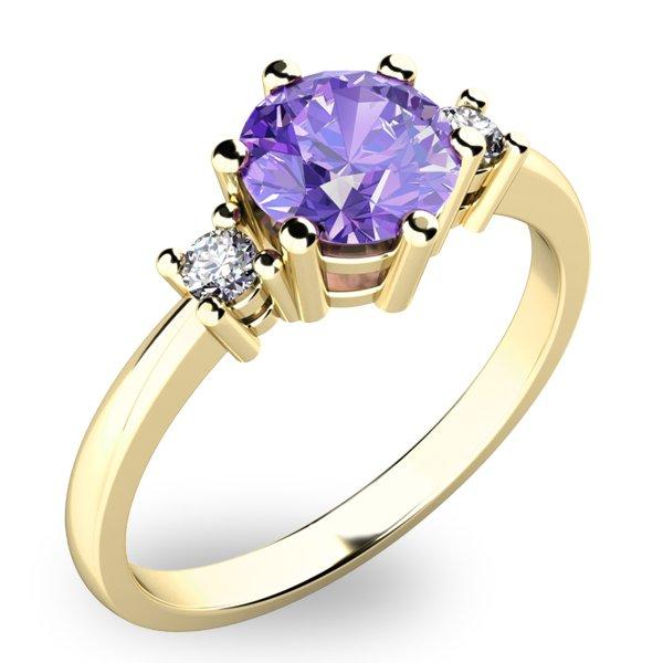 Prsten s velkým tanzanitem a diamanty 10856Z-TZNT