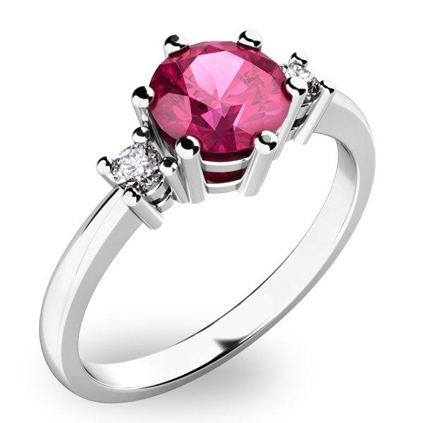 Krásný prsten s turmalínem a diamanty 10856B-TUR