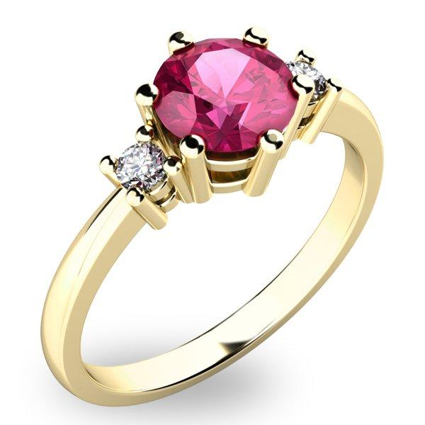 Krásný prsten s turmalínem a diamanty 10856Z-TUR